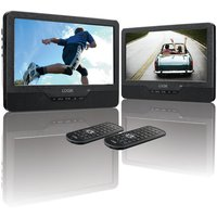 Logik L9dualm13 Dual Screen Portable Dvd Player - Black, Black at Currys Electrical Store