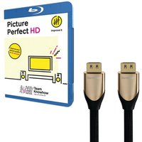 Knowhow Picture Perfect & 2 M Hdmi Cable With Ethernet Bundle, Gold