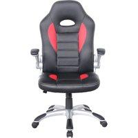 ALPHASON Talladega Gaming Chair - Black & Red, Black