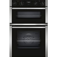 NEFF N50 U1ACE5HN0B Electric Double Oven - Stainless Steel, Stainless Steel