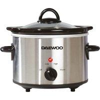 DAEWOO SDA1363 Slow Cooker - Stainless Steel, Stainless Steel