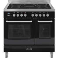 BRITANNIA Q Line 90 Electric Induction Range Cooker - Gloss Black and Stainless Steel, Stainless Steel