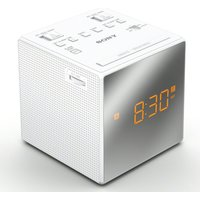 SONY ICF-C1TW FM/AM Clock Radio - White, White