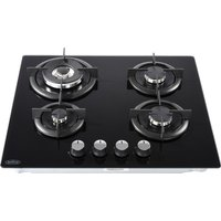 BELLING GTG60C Gas Hob - Black, Black