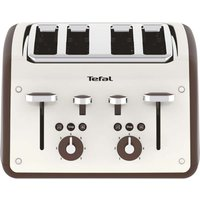 TEFAL Retra TF700A40 4-Slice Toaster - Cream & Mokka, Cream.