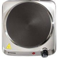 DAEWOO SDA1731 Single Electric Hot Plate - Silver, Silver