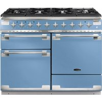 RANGEMASTER Elise 110 Dual Fuel Range Cooker - China Blue & Chrome, Blue