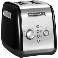 KITCHENAID 5KMT221BOB 2-Slice Toaster - Black, Black