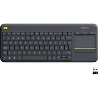 LOGITECH K400 Plus Wireless Keyboard - Dark Grey, Grey