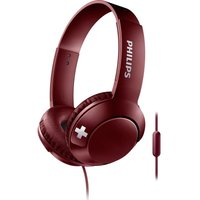 PHILIPS Bass SHL3075RD Headphones - Red, Red