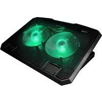 PORT DESIGNS Arokh Gaming Laptop Cooling Stand - Black & Green, Black