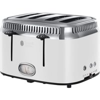 Buy RUSSELL HOBBS Retro 21694 4-Slice Toaster - White, White - Currys