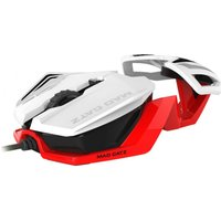 Mad Catz Rat 1 Optical Gaming Mouse - White & Red, White