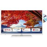 "32"" JVC LT-32C696 Smart LED TV with Built-in DVD Player - White, White"
