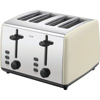 Click to view product details and reviews for Logik L04tc19 4 Slice Toaster Cream Silver Cream.