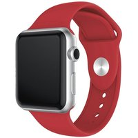 XQISIT Apple Watch 42 / 44 mm Silicone Strap - Red, Small, Red.