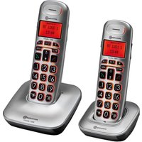 AMPLICOMMS BigTel 1202 Cordless Phone - Twin Handsets