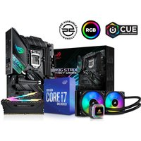 PC SPECIALIST Intel®u0026regCore i7 Processor, ROG STRIX Gaming Motherboard, 16 GB RAM &H100i RGB CPU Cooler Components Bundle