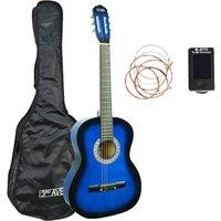 3RD AVENUE STX20 Classical Guitar Bundle - Blueburst