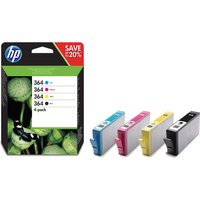 HP 364 Cyan, Magenta, Yellow & Black Ink Cartridges - Multipack, Cyan