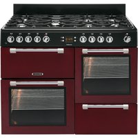 LEISURE Cookmaster CK110F232R Dual Fuel Range Cooker - Red and Chrome, Red