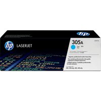 HP 305A Original LaserJet Cyan Toner Cartridge, Cyan