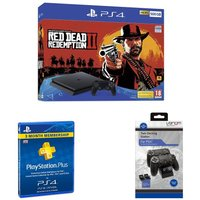 PlayStation 4 500 GB, Red Dead Redemption 2, Docking Station & PlayStation Plus Bundle, Red