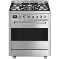 SMEG Symphony C7GPX9 70 cm Dual Fuel Cooker - Stainless Steel, Stainless Steel