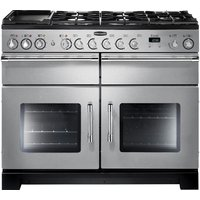 RANGEMASTER Excel 110 Dual Fuel Range Cooker - Stainless Steel & Chrome, Stainless Steel