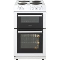BELLING FS50ET 50 cm Electric Solid Plate Cooker - White, White