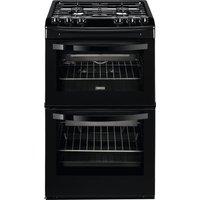 ZANUSSI ZCG43010BA Gas Cooker - Black, Black