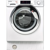 HOOVER HBWD 8514TAHC Integrated 8 kg Washer Dryer - White, White