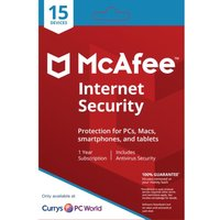 MCAFEE Internet Security - 1 user / 15 devices for 1 year