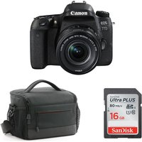 CANON EOS 77D DSLR Camera, Memory Card and Bag Bundle