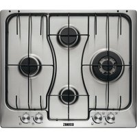 Zanussi Zgx65424xs Gas Hob - Stainless Steel, Stainless Steel