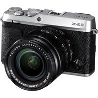 FUJIFILM X-E3 Mirrorless Camera with XF 18-55 mm f/2.8-4 Lens - Silver, Silver