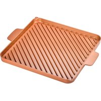 High Street Tv Copper Chef 30 Cm Non-stick Grill & Griddle Pan