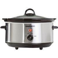 DAEWOO SDA1364 Slow Cooker - Stainless Steel, Stainless Steel