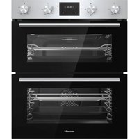 HISENSE BID75211XUK Electric Built-under Double Oven - Stainless Steel and Black, Stainless Steel