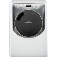 HOTPOINT Aqualtis AQ113F497E Washing Machine - White & Tungsten, White