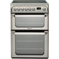 HOTPOINT HUE61XS Electric Ceramic Cooker - Stainless Steel, Stainless Steel