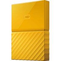 WD My Passport Portable Hard Drive - 2 TB, Yellow, Yellow