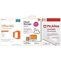 MICROSOFT Office 365 Home, 2 TB Cloud Storage & LiveSafe Premium Unlimited Bundle