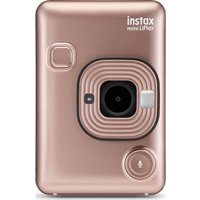 INSTAX LiPlay Digital Instant Camera - Blush Gold, Gold.