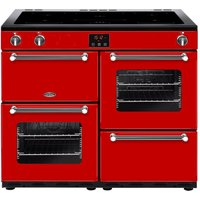 BELLING Kensington 100Ei Electric Induction Range Cooker - Red and Chrome, Red