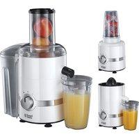 RUSSELL HOBBS 22700 3-in-1 Ultimate Juicer, Citrus Press & Blender - White & Chrome, White