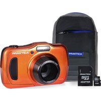 PRAKTICA Luxmedia WP240 Compact Camera & Accessories Bundle - Orange, Orange