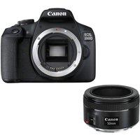 Canon Eos 2000d DSLR Camera & Ef 50 Mm F/1.8 Stm Standard Prime Lens Bundle