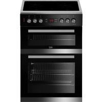 BEKO JDC683X 60 cm Electric Ceramic Cooker - Stainless Steel and Black, Stainless Steel