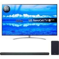 "75"" LG 75SM9900PLA  Smart 8K HDR LED TV & SL9YG 4.1.2 Wireless Sound Bar Bundle, Black"